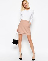Asos A-Line Skirt with Piping Detail