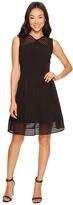 Tahari by Arthur S. Levine Petite Mesh Stripe Trim Dress Women's Dress