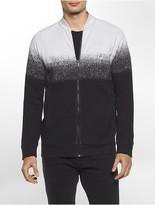 Calvin Klein Ombre Jacquard Zip Sweatshirt