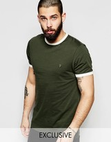 Farah T-Shirt with Contrast Trim Slim Fit Exclusive