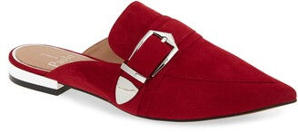 Linea Paolo Ace Buckle Pointed Toe Mule