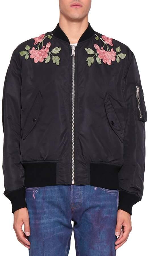 Gucci Reversible Nylon And Silk Bomber Jacket
