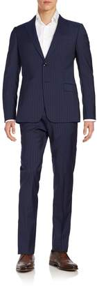 Armani Collezioni Two-Button Striped Wool Suit