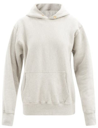 LES TIEN Fleeceback Cotton-jersey Hooded Sweatshirt - Grey