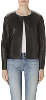 J Brand Cecilia Leather Jacket In Black