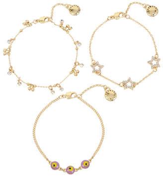 BCBGeneration Festival Eye & Star Charm Delicate Bracelet Set