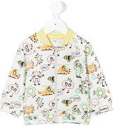 Fendi emoji print jacket - kids - Cotton/Spandex/Elastane - 12 mth