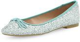 Dorothy Perkins Mint glitter round toe pumps