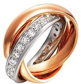 JOOP! Joop Women's Ring Silver Gold-Plated Partially Gold-Plated with White Zirconia-Jprg90003B5 Rose Gold/Silver
