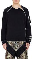 Givenchy Men's Zip-Embellished Cotton Fleece Sweatshirt