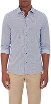 Michael Kors Men's Square-Print Slim-Fit Shirt-WHITE