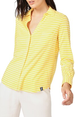 Court & Rowe Classic Stripe Cotton Button-Up Blouse