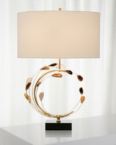 John-Richard Collection Swirling Agates in Brown and Brass Table Lamp