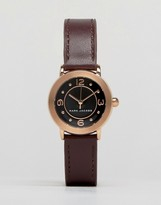 Marc Jacobs Dark Cherry Leather Riley Watch MJ1474