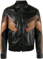 Neil Barrett panelled jacket - men - Lamb Skin/Cupro/Polyamide/Spandex/Elastane - M