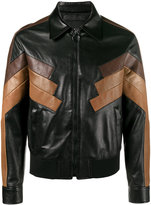 Neil Barrett Retro Leather Blouson - men - Lamb Skin/Polyamide/Spandex/Elastane/Cupro - M