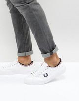 Fred Perry Kendrick Tipped Cuff Canvas Trainers