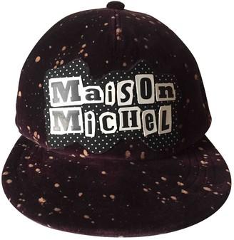 Maison Michel Purple Viscose Hats