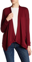 Bobeau Open Front Drape Cardigan Sweater (Petite)