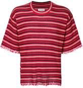 Maison Margiela raw edge striped T-shirt