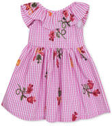 Rare Editions Embroidered Gingham Dress, Toddler Girls