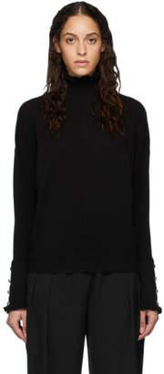Chloé Black Cashmere Ruffle Turtleneck