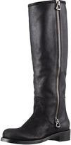 Jimmy Choo Doreen Rugged Leather Knee Boot, Black
