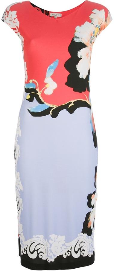 Etro floral printed dress