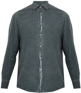 Massimo Alba Spread-collar brushed-twill shirt