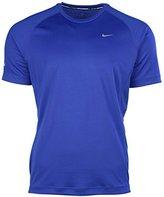 Nike Men's Dri-Fit Miler UV Short Sleeve Running Shirt 717405 408 (xl)