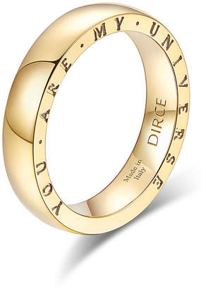 """Milani Alberto Dirce """"You Are My Universe"""" 18k Yellow Gold 4.3mm Band Ring, Size 6"""