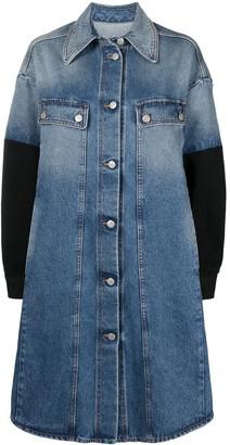 MM6 MAISON MARGIELA Contrasting-Sleeves Denim Coat