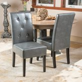 Christopher Knight Home Taylor Grey Bonded Leather Dining Chair (Set of 2)