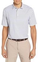 Peter Millar Men's Pug Stripe Moisture Wicking Stretch Jersey Polo