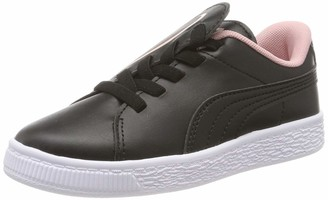 Puma Girls' Basket Crush AC PS Trainers Black-Bridal Rose 11.5 UK 30 EU