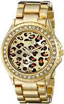 XOXO Women's XO5631 Gold-Tone Leopard Dial Watch
