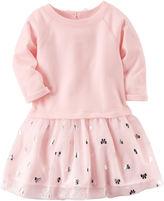 Carter's Long Sleeve Bows A-Line Dress - Preschool Girls