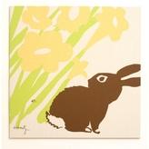 Pin It Amenity Nursery Wall Print Meadow Peeking Bunny Wall Print