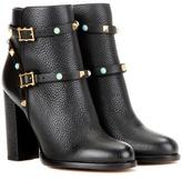 Valentino Garavani Rockstud Rolling Leather Ankle Boots