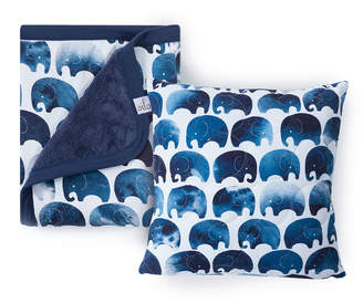 Oilo Studio Elephant Quilted Pillow & Cuddle Blanket Set