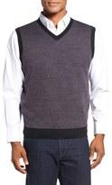 Toscano Men's V-Neck Birdseye Vest