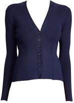 Ralph Lauren Peplum Silk V-neck Cardigan