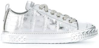 Giuseppe Zanotti Blabber metallic low-top sneakers