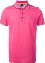Paul & Shark logo embroidered polo shirt - men - Cotton - XXL