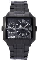 Zero Halliburton ZW004B-02 Men's Square Dual Time Watch Date 5 ATM water resistant
