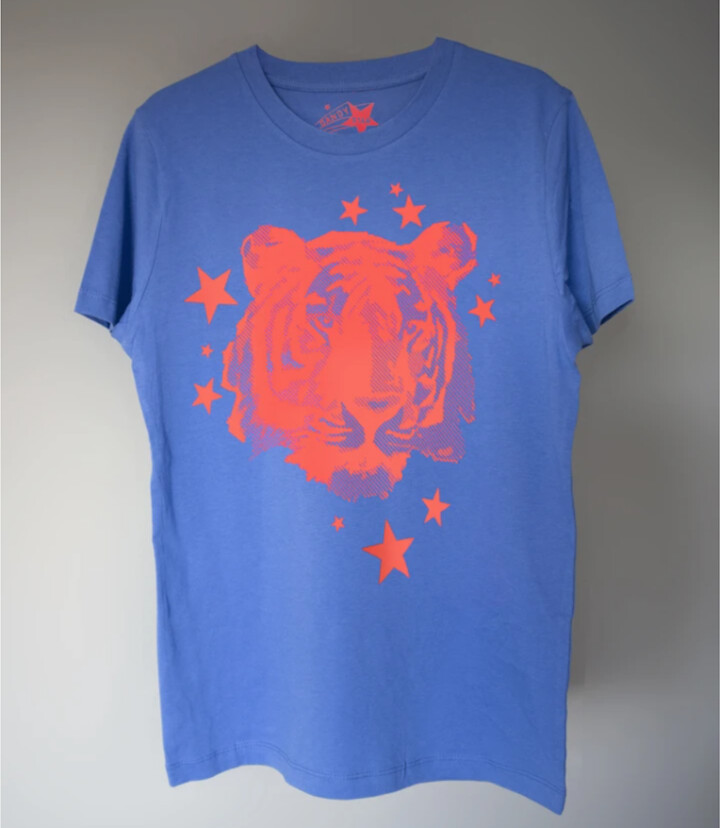 Thumbnail for your product : Margaux Teen Blue Tiger Print Tee