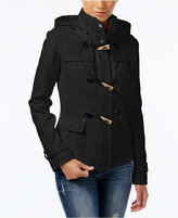 Celebrity Pink Hooded Toggle Peacoat