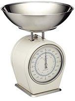 Kitchen Craft Living Nostalgia Mechanical Kitchen Scales, 4 kg (8 lbs) - Antique Cream