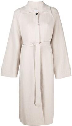 Barrie Balmacaan cashmere coat