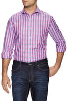 James Tattersall Plaid Print Dress Shirt